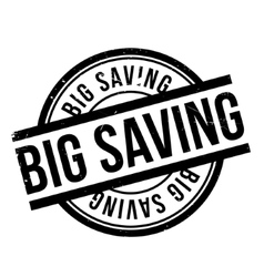 Big Saving rubber stamp vector image