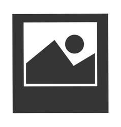 Black and white landscape graphic vector