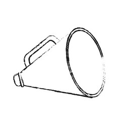 Blurred silhouette image megaphone flat icon vector