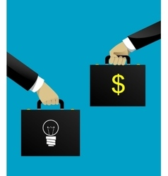 Business startup concept in flat style vector image vector image