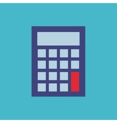calculator flat isolated icon vector image