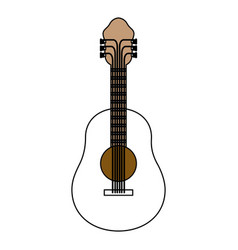 color sections silhouette of acoustic guitar with vector image vector image