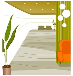 Empty modern lobby vector image vector image