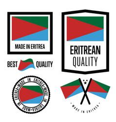 Eritrea quality label set for goods vector