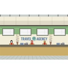 Front of travel agency counter vector