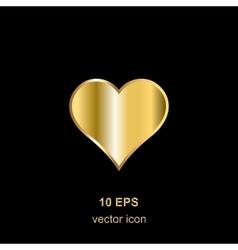 golden heart on black vector image