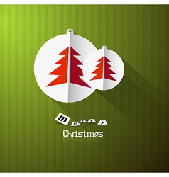 Green retro abstract merry christmas background vector