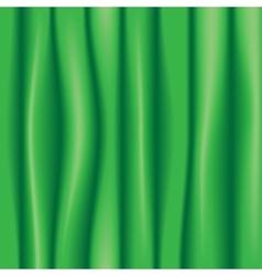 Green silk drapery textile background vector
