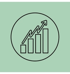 growth icon design vector image vector image