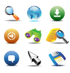 Icons for web-browsing vector image vector image
