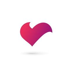 Letter v heart symbol logo icon design template vector