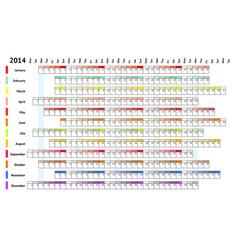 Linear calendar 2014 vector image