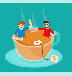 meeting tea vector image vector image