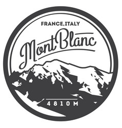 Montblanc in alps france italy outdoor adventure vector