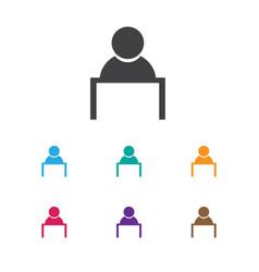 of job symbol on talking man vector image vector image