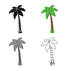 Palm icon in cartoon style for web vector