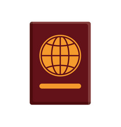 passport document icon vector image