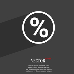 percentage discount icon symbol Flat modern web vector image