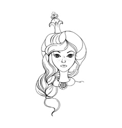 Princess on a white background vector