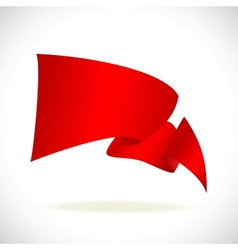 red banner for text on white background vector image vector image
