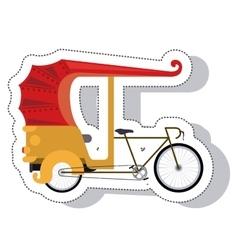 Rickshaw service isolated icon vector