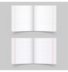 school notebooks vector image