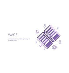 Wage web banner with copy space business salary vector