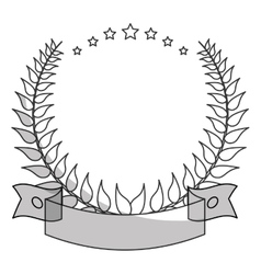 Wreath of leaves design vector