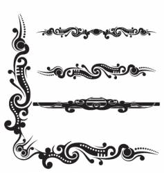 Tribal scroll flourish vector