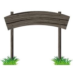 Wooden signboard arc vector image
