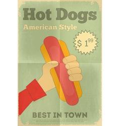 Big Hot Dog vector image
