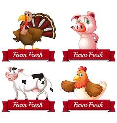 Farm animals vector image