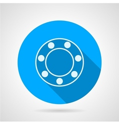 Ball bearing flat icon vector