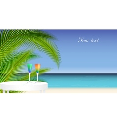 Tropical trip vector image