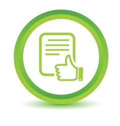 Green document icon vector
