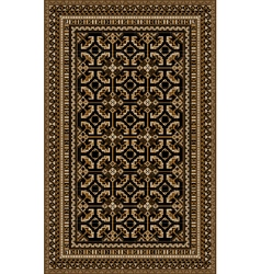 Rug with patterned beige and brown shades vector