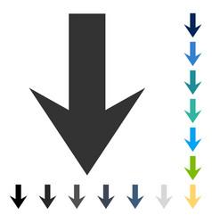 Arrow down icon vector