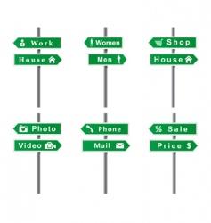 arrows signs set vector image vector image