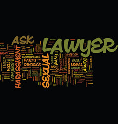 Ask a lawyer text background word cloud concept vector