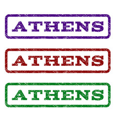 Athens watermark stamp vector