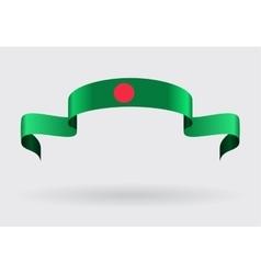 Bangladeshi flag background vector image vector image