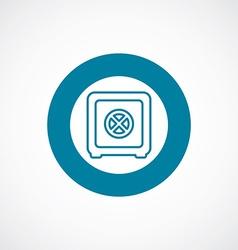 Bank safe icon bold blue circle border vector