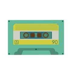 Cassette icon retro technology design vector