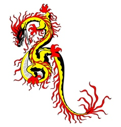 chinese fire dragon vector image