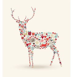 Christmas reindeer composition vector