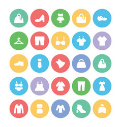 Clothes icons 2 vector