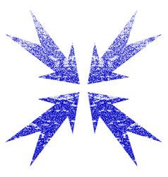 Compression arrows grunge textured icon vector