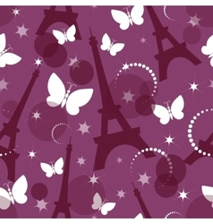 Fashion seamless background on pink vector image vector image