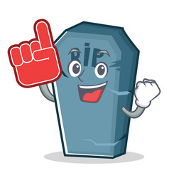 Foam finger tombstone character cartoon object vector