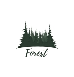 Forest logo isolated on white background vector image